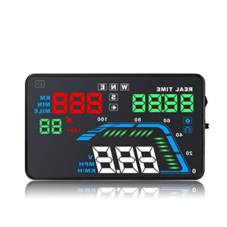 NBKLS Pantalla Head-Up, Automático HUD GPS Pantalla Head Up ...