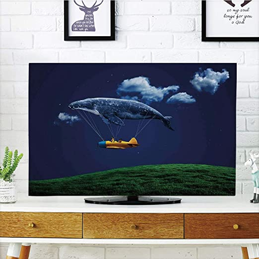 Cobertor de Polvo para televisor LCD, Whale, Ocean Animals ...