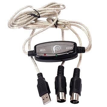 MagiDeal 2m USB Midi Interfaz de Cable de Música Adaptador de Teclado Convertidor para Pc Herramientas: Amazon.es: Electrónica