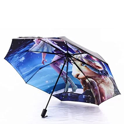 VANKER Folding Horoscopes Star Signs Anti-UV Rain Sun Arts Umbrella Paraguas Parasol Aries