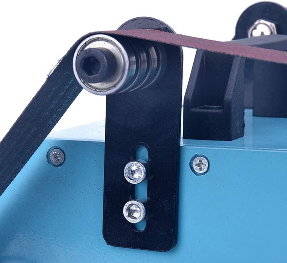 950W 220V Doppelachsen Schleifmaschine,Double Axis Mini Belt Sanding Bandschleifmaschine,Doppelte Werkbank Bandschleifer-Blau 800-6000 U//min