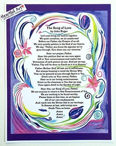 Song of Love 8x11 John-Roger poster - Heartful Art by Raphaella Vaisseau