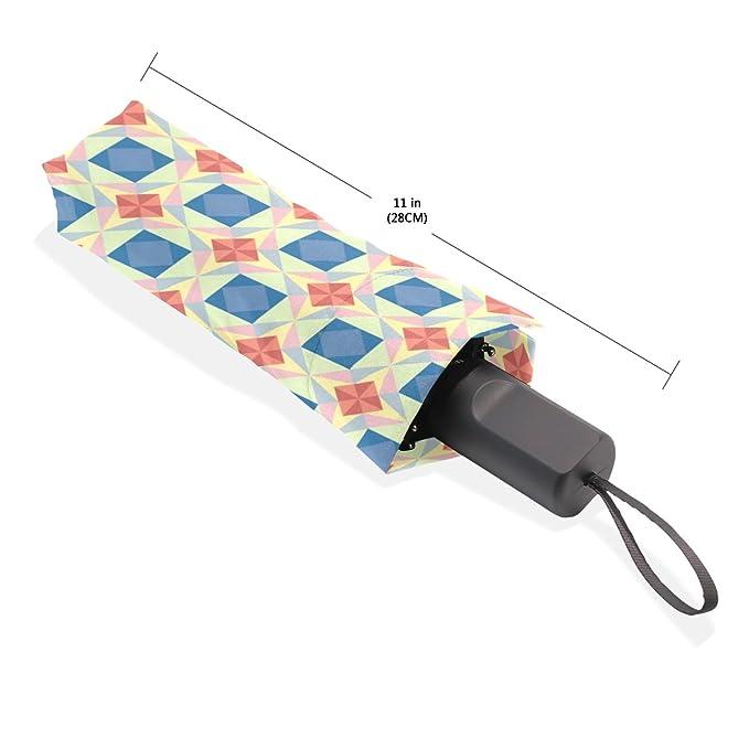 Amazon.com | LORVIES Seamless Star Vector Pattern Automatic 3 Folding Parasol Sun Protection Anti-UV Umbrella for Women | Umbrellas