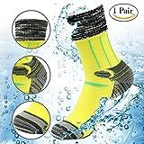 Cheap RANDY SUN 100% Waterproof Socks, Men's Breathable Running Perfect Fits Socks Multisport Tube Socks Yellow Black Grey Size Large