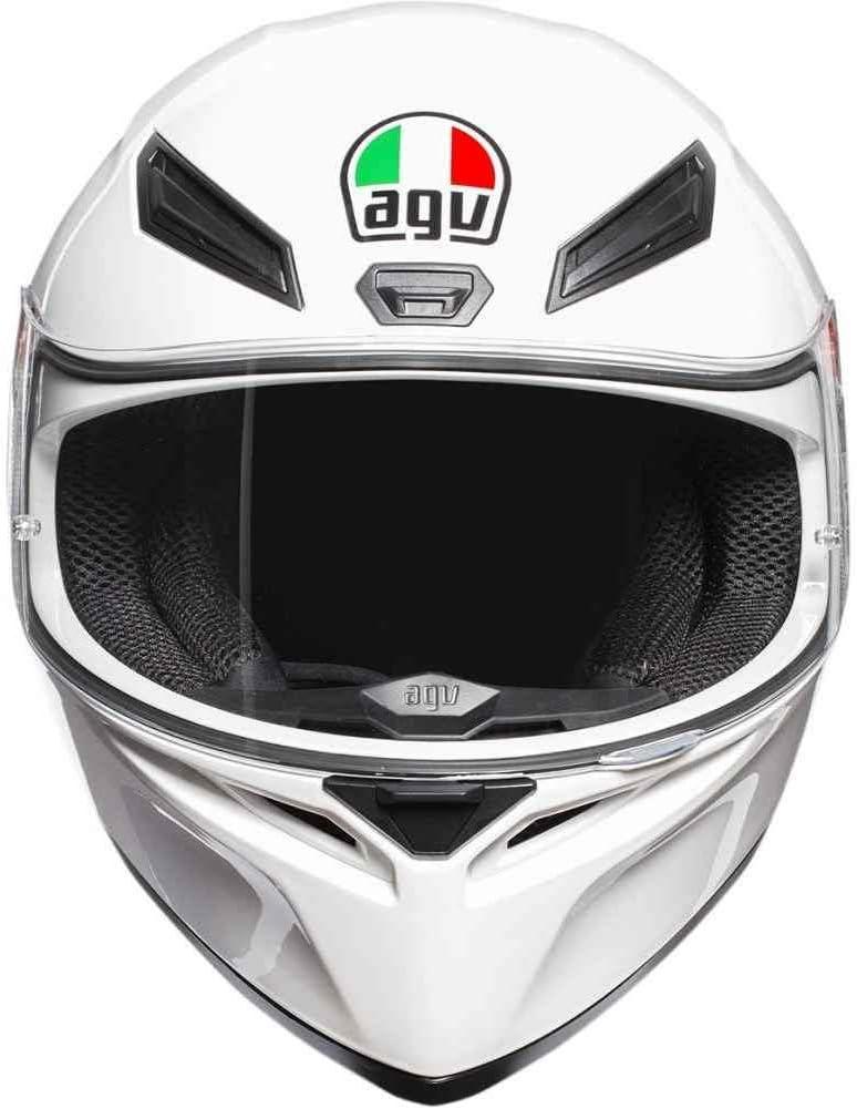 White, Large AGV Unisex-Adult Full Face K-1 Motorcycle Helmet