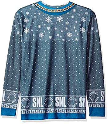 Faux Real Men's Snl Dick in a Box Xmas Sweater Printed Long Sleeve T-Shirt