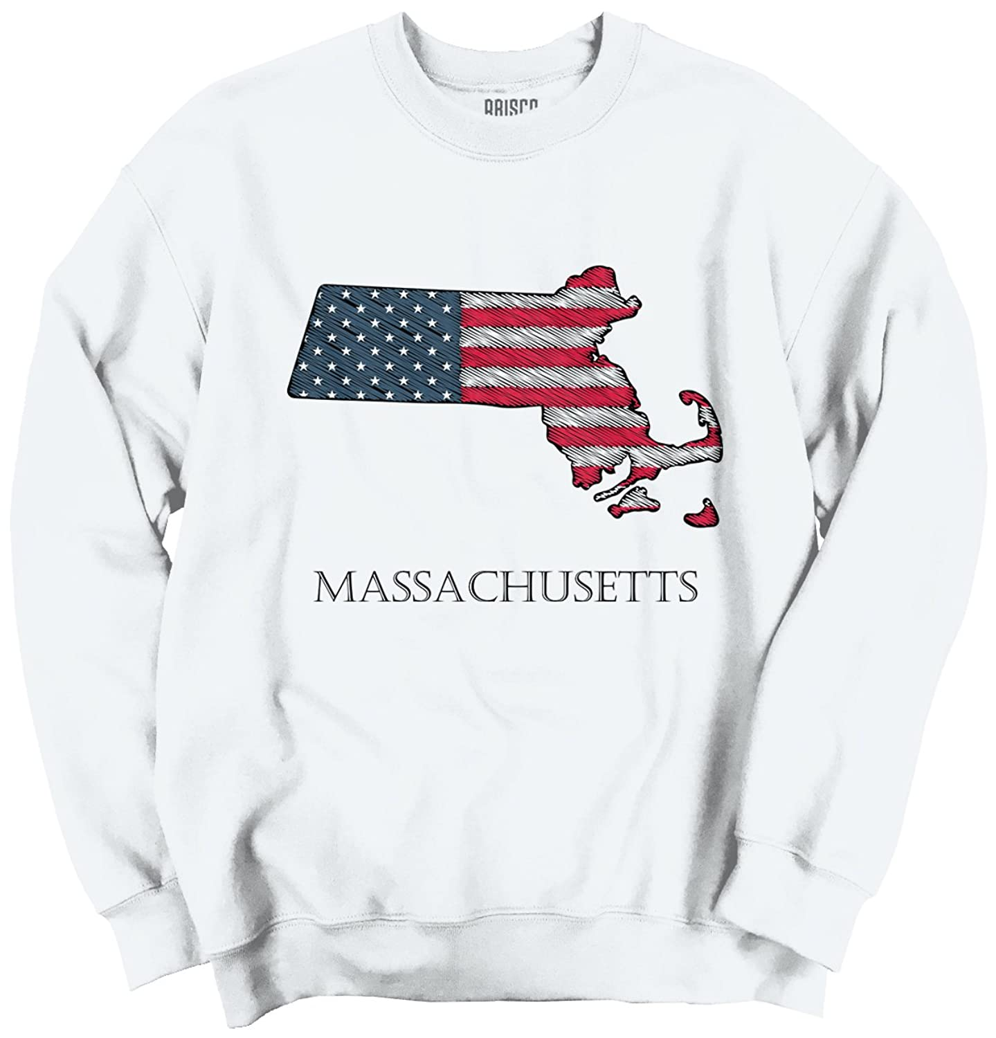 Massachusetts State Pride American Flag Patriotic Gift Idea Sweatshirt