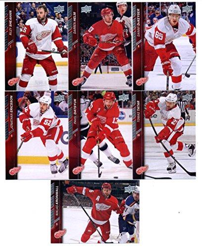 2015-16 Upper Deck Detroit Red Wings Team Set of 7 Cards: Danny DeKeyser, Darren Helm, Riley Sheahan, Jonathan Ericsson, Niklas Kronwall, Pavel Datsyuk, Tomas Tatar Snap Case