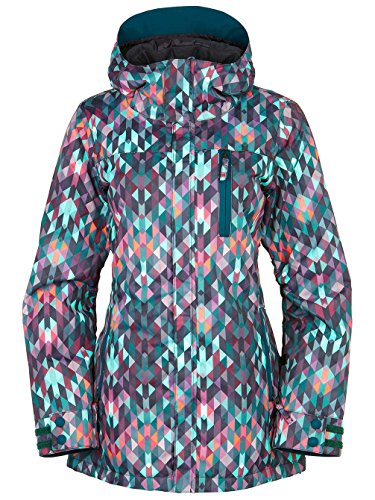 686 Authentic Eden Insulated Jackt, Kaleidoscope, X-Small (Ski Jacket Women 686)