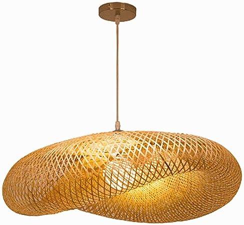 RDYL Vintage en Bambou Naturel Herbe Lustre E27 luminaire Suspendu Chapeau de Paille Petit Lustre Lustre en rotin tiss/é Cr/éatif Ferme tiss/é /à la Main Chambre en Bambou Lampe de Plafond,40cm