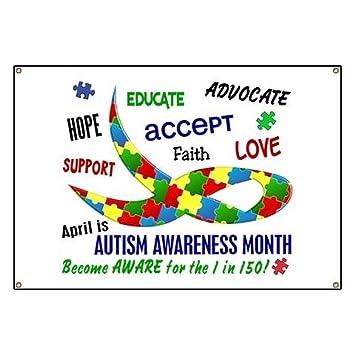 amazon com cafepress autism awareness month vinyl banner 44