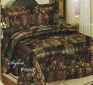 Amazon Com Luxurious Satin King Safari Animal Print
