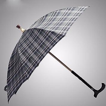 SSBY Refuerzo de seguridad bastón PARAGUAS paraguas exterior altura ajustable Asa skid escalada viejo paraguas,