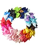 Adoeve 10pcs Girls Ribbon Bow Hair Clip Kids Alligator Clips Party Hair Accessories Facial Hair