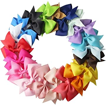 Ladiy 10pcs Girls Ribbon Bow Hair Clip Kids Alligator Clips Party Hair Accessories
