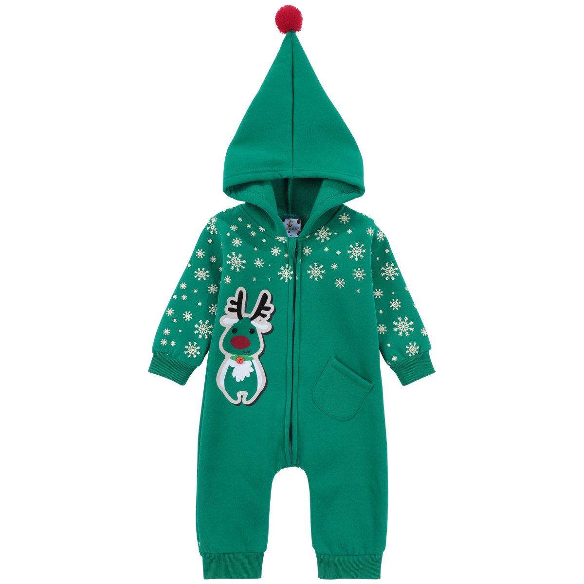 Famuka Baby Weihnachten Strampler Neugeborene Babykleidung Weihnachtsoutfit