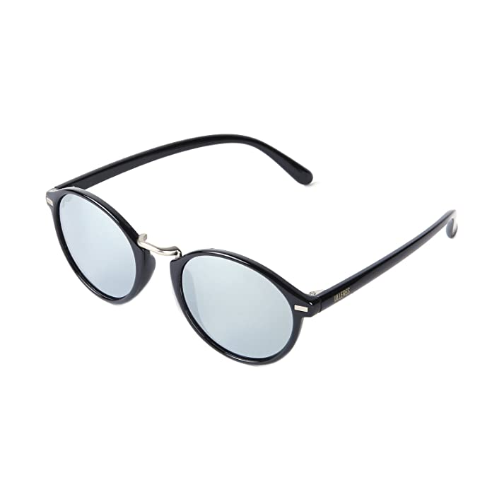 4175a811ae75e ULLERES Vintage Round Mirrored Retro Circle Sunglasses for Boys Girls Baby  Kids (Black