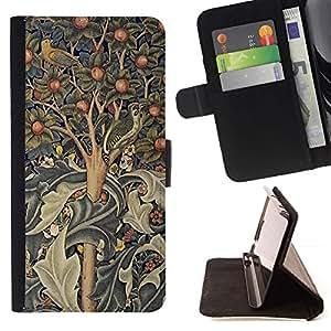 Arte árbol pintura india Resumen- Modelo colorido cuero de la carpeta del tirón del caso cubierta piel Holster Funda protecció Para Apple Apple iPhone 4 / iPhone 4S