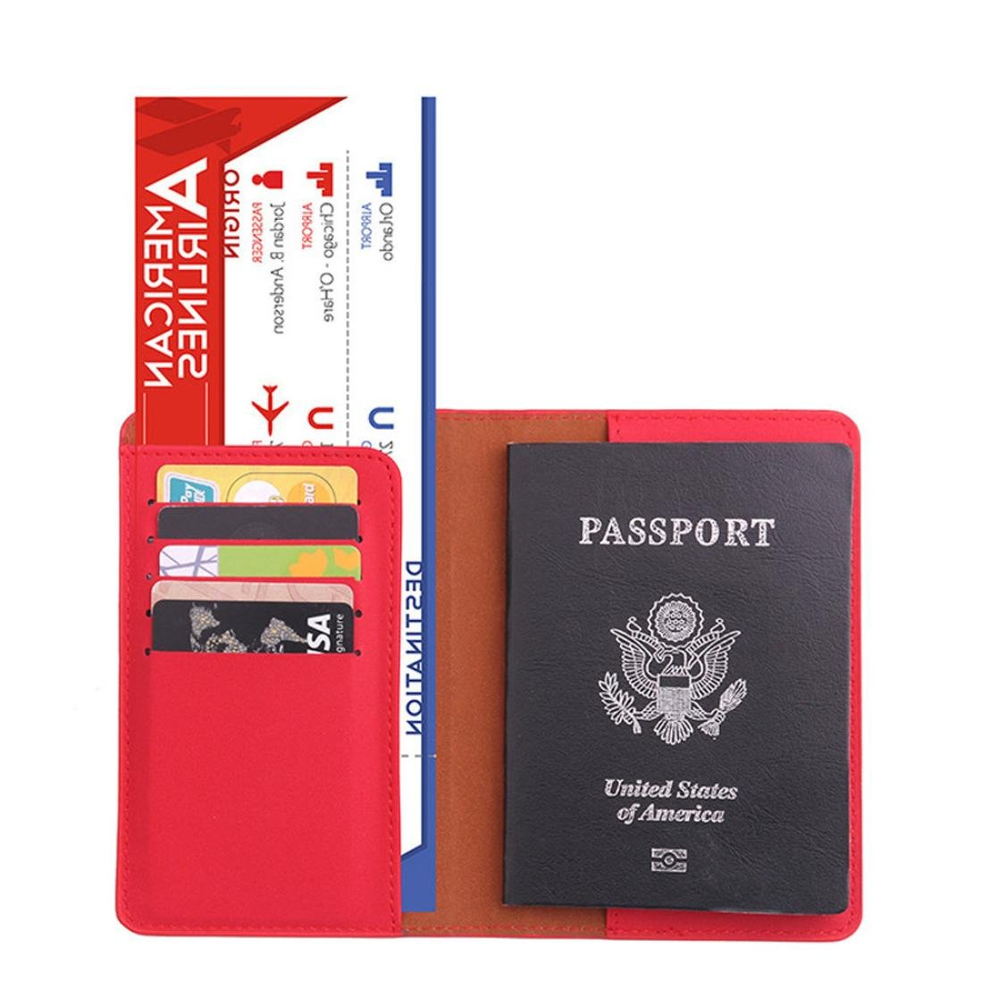 Oldeagle Dedicated Nice Travel Passport ID Card Cover Storage Holder Case Protector Organizer (A)