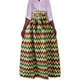 Yuandian Mujer Maxi Falda Plus Size Estilo étnico Africano Falda ...