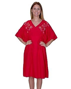 Bayside Barcelona Vestido de fiesta de caftán bordado rojo