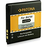 Battery BA700 | BA-700 for Sony-Ericsson Xperia E (C1504 / C1505) | E Dual (C1604 / C1605) | miro (ST23i) | neo (MT15i) | neo V (MT11i) | pro (MK16i) | ray (ST18i) | tipo (ST21i) | tipo dual (ST21i2) [ Li-ion 1700mAh / 3.7V ]