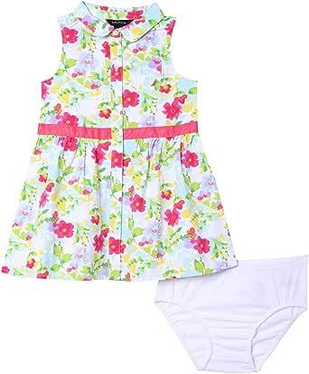 Nautica Baby Girls Patterned Sleeveless Dress
