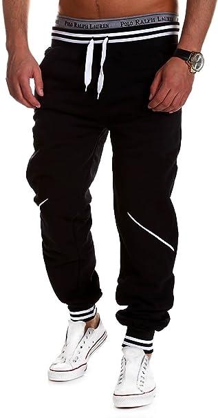 BEHYPE Men/'s Active Basic Jogging Sweat Pants Trousers Stripes MT-52
