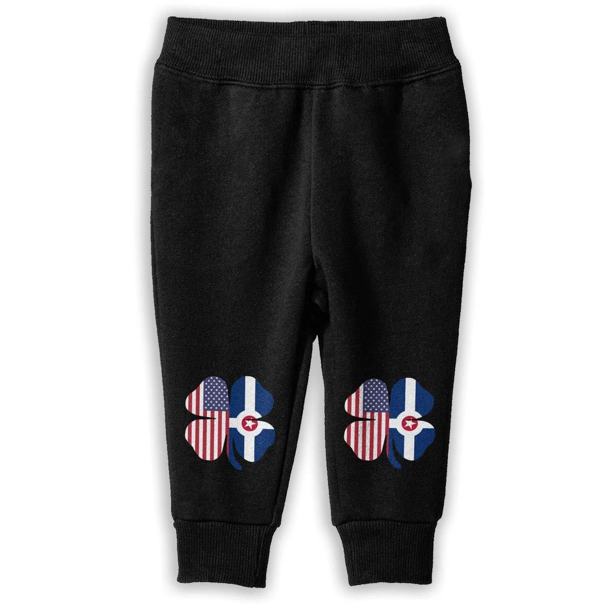 NJKM5MJ American Indianapolis Flag Shamrock Sweatpants Childrens Training Pants