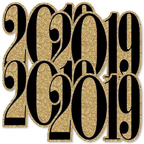 Gold New Year's Eve - 2019 Decorations DIY Party Essentials - Set of 20 -
