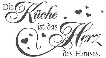 Wandtattoo Die Küche ist das Herz des Hauses.: Amazon.de: Küche ...
