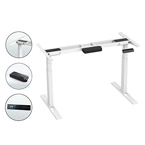 Remarkable Aimezo 71 W Electric Height Adjustable Desk Base Sit To Stand Up Desk Standing Workstation With Dual Motor 3 Stage Up Lifting Legs Download Free Architecture Designs Licukmadebymaigaardcom
