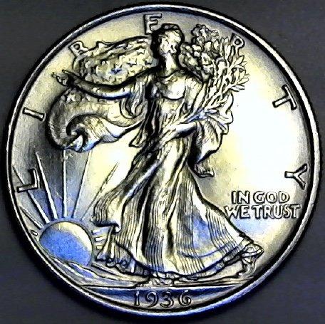 1936 P Silver Walking Liberty Half Dollar MS-63