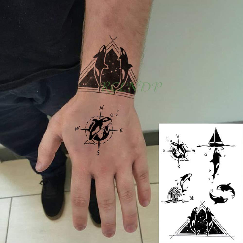 3 Piezas Etiqueta de Tatuaje a Prueba de Agua de Gran tamaño Manga ...