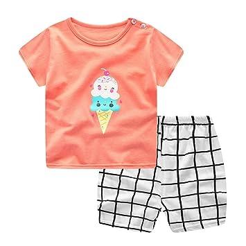 Conjuntos de ropa trajes Xinantime Recién nacido Infantil Bebé Niño niña dibujos animados Tops camisas Camiseta