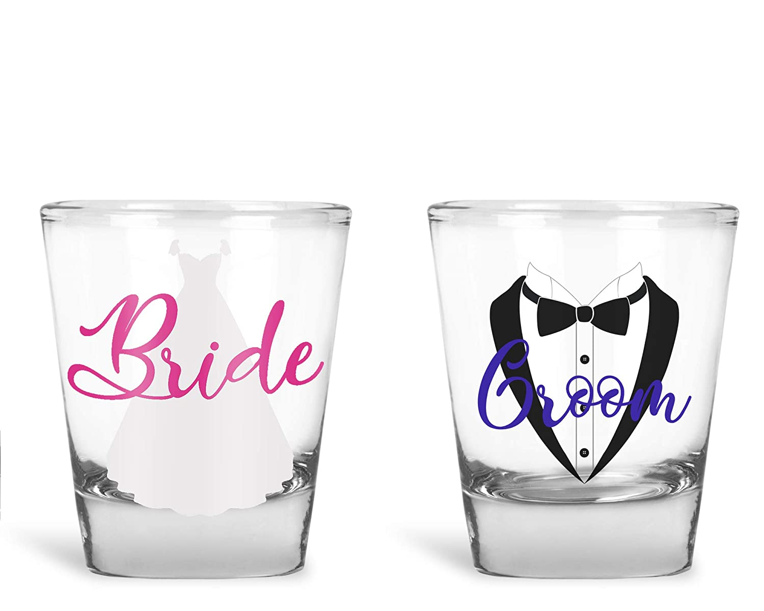 Wedding Shot Glasses.Amazon Com Wedding Shot Glasses Bride And Groom Shot