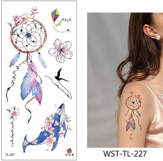 adgkitb 4pcs Tatuaje Pegatina Flores Impermeable WST-TL-227 9x19cm ...