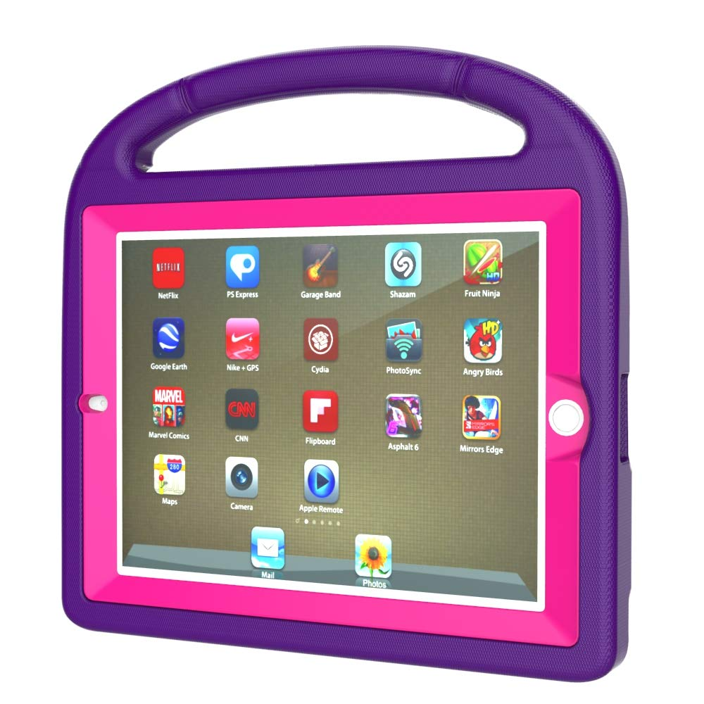 AVAWO iPad 2 3 4 Impermeable para Niños Puple+Rose for iPad ...