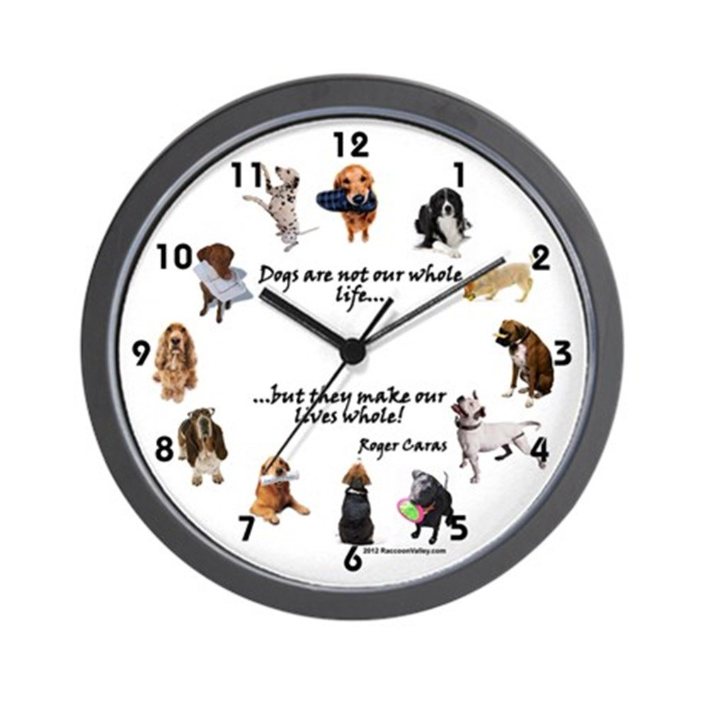 Amazon cafepress clock dog lovers unique decorative 10 amazon cafepress clock dog lovers unique decorative 10 wall clock home kitchen amipublicfo Images