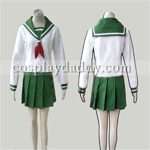 NEW Inuyasha Kagome Higurashi Cosplay Costume Free shipping