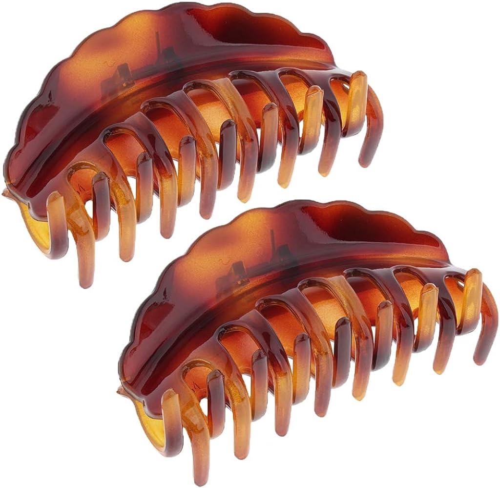 2pcs Metall Haarklammer Haarzwicker Haargreifer Haarkralle Haarspange Haarclips
