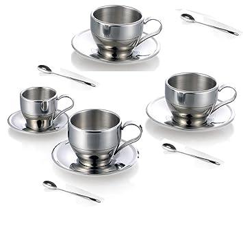 jasni taza de café tazas de café tazas de espresso de acero ...