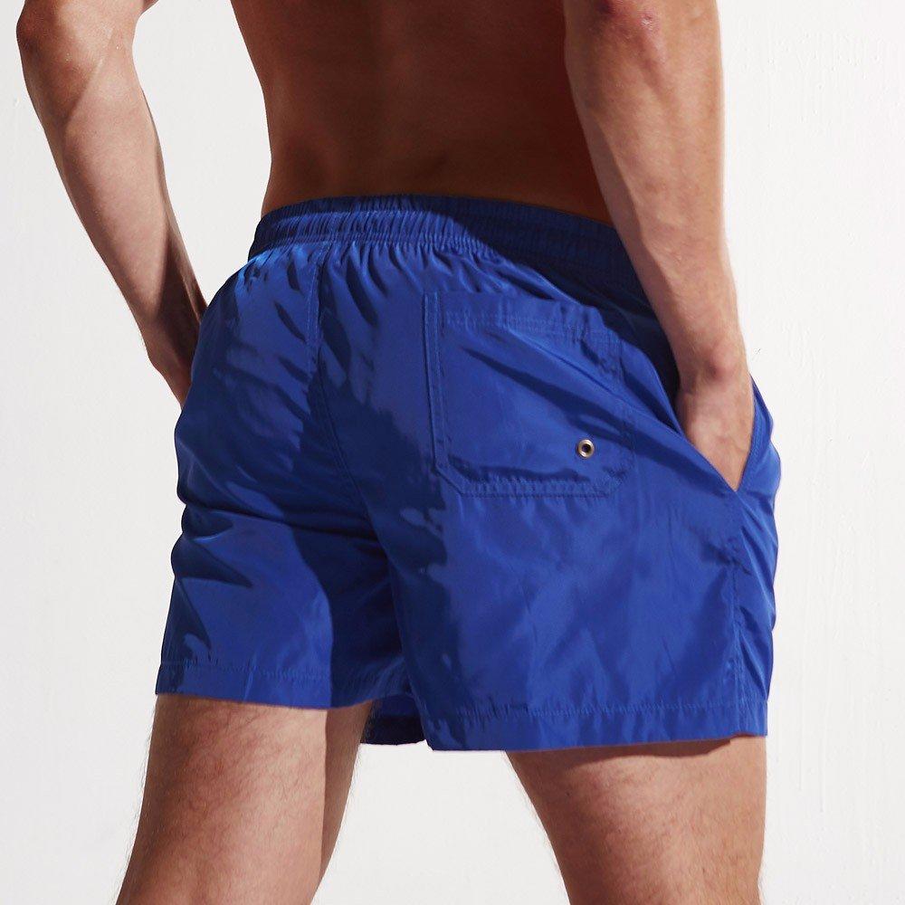 Rcool Costumi da Bagno Uomo Asciugatura Rapida Costumi Uomo Mare Boxershorts Drawstring Tinta Unita M-XXL, Costume da Bagno Uomo Pantaloncini 2019