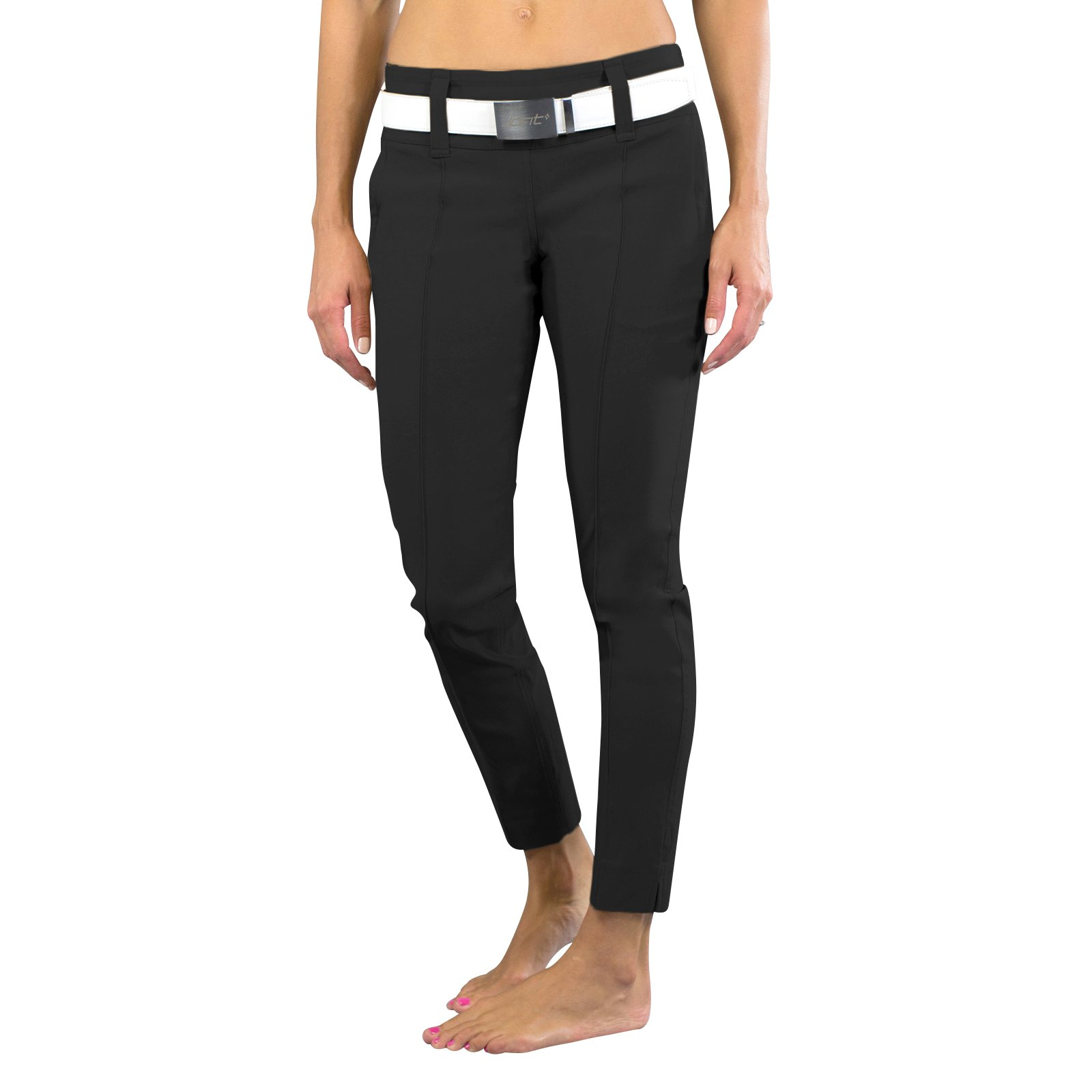 Jofit Women's Slimmer Crop Pants, Black, Large by Jofit