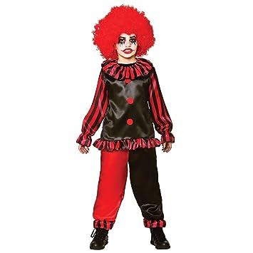 Traje de circo de vestir chicos Freaky malvado del payaso de Halloween de lujo. Talla XL (11-13 146-158 cm)
