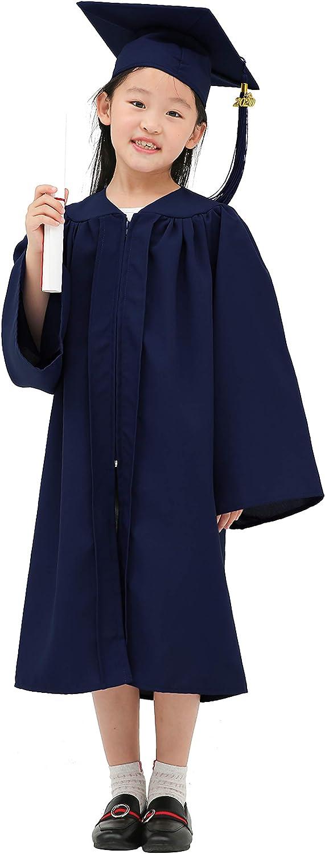9 Colours GraduationMall Matte Child Nursery Graduation Cap and Gown for Kids with 2020 Tassel Kindergarten Preschool Graduation Hat