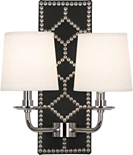 product image for Robert Abbey S1035 Williamsburg Lightfoot - Two Light Wall Sconce, Choose Finish: Polished Nickel
