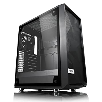 Fractal Design Meshify C – TG Midi-Tower Negro, Transparente Carcasa de Ordenador -