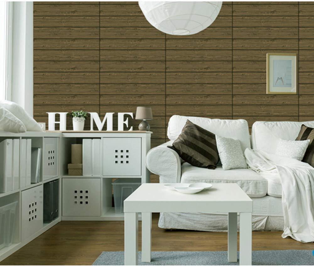 3D Carta da Parati Mattoni Bianco DIY Adesivi muro di mattoni imitazione 12pc, Log