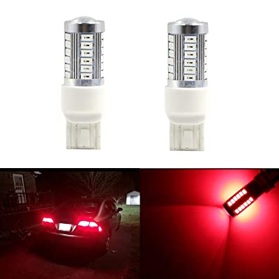 Brilliant Red T20 Wedge LED 992 7440A 7440AL 7440NA 7440 7440LL 7441 7443 7443LL 7444NA W21W 7443NAK WY21W 12V Red LED Car Light Led Bulb for Brake Light LED Bulbs Parking Tail Light: Automotive